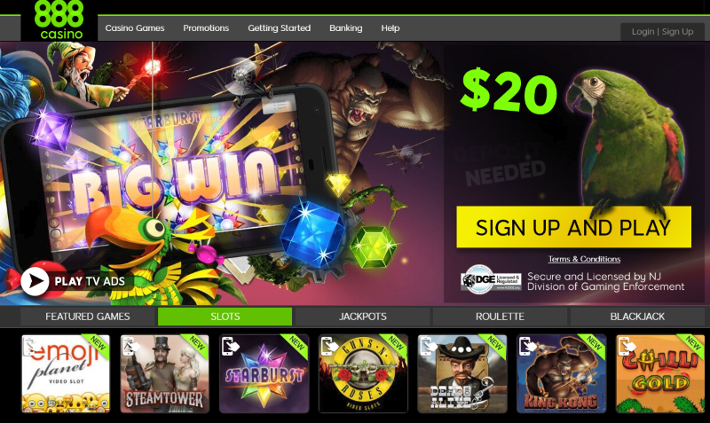 Start Playing at 888Casino Today