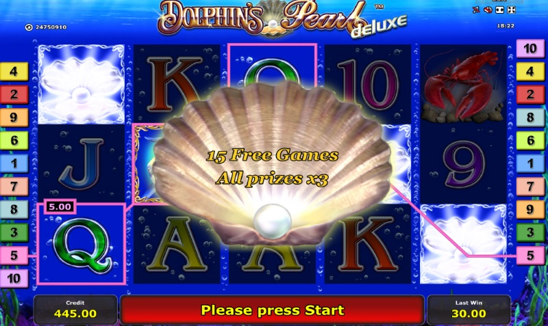 Dolphins Pearl Deluxe Spin to Win Bg
